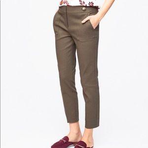 LOFT olive Marissa skinny cropped pants 14